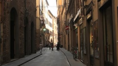 Classic old street in the center of Florence — ストックビデオ