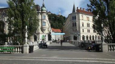 Ljubljana city centre — Stockvideo