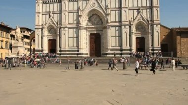 Basilica of Santa Croce, Florence — Stock Video