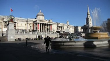 Trafalgar Square — Stock Video
