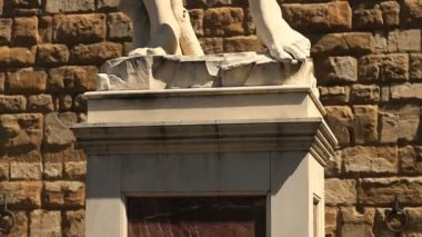 David of Michelangelo in Florence — Stock Video