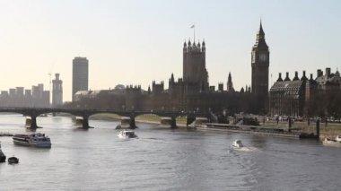 Thames nehri'nin, london — Stok video