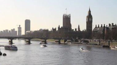 Themsen, london — Stockvideo