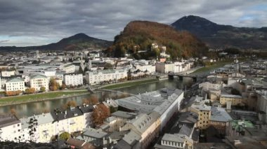 Salzburg cityscape — Stock Video