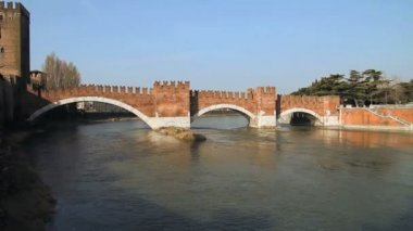 Castelvecchio Bridge — Stock Video