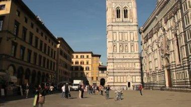 Piazza del duomo, Florença, Itália — Vídeo stock