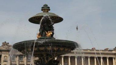 Fountain in Place de la Concorde, Paris — Stock Video