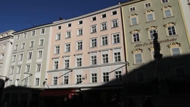 Edificio en Salzburgo — Vídeo de stock