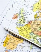 Map of Western Europe — Stock Photo
