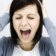 Stock Photo: Screaming woman