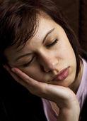 Sleepy young woman — Stock Photo