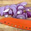 Sliced ??red onion — Stock Photo
