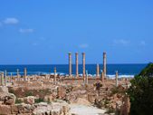 Ruins of Sabratha, Libya - Colonnade — Stock Photo