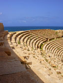 Ruins of Sabratha, Libya - Amphitheatre — Stock Photo