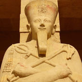 Pharaoh Sculpture from Mortuary Temple of Hatshepsut — Stock Photo