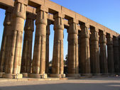 Colonnade of Amon Temple — Stock Photo