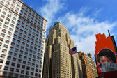 Wolkenkrabbers in new york city — Stockfoto