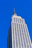Uitzicht op het empire state building - new york — Stockfoto