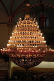 Chandelier in a Protestant Church - New York City — Stock Photo