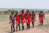 Masai Men Dance — Stockfoto