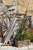 Old Hand-cart - Matera — Stock Photo