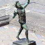 Dancing Faun Statue - Pompeii — Stock Photo #40490533