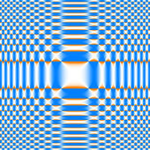 Checked Zoom Background Hourglass Blur - White & Orange & Azur — Stock Photo