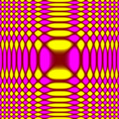 Checked Concentrical Zoom Background Circular Blur - Pink & Yellow & Red — Stock Photo