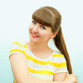 Portrait of cheerful attractive girl — Stock Photo