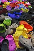 цветные тапочки — Стоковое фото