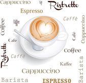Cappuccino — Cтоковый вектор