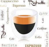 Coffee, espresso, ristretto — Stock vektor