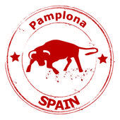 Spain- Pamplona — Stock Vector