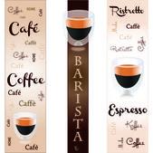 バナー コーヒー — ストックベクタ