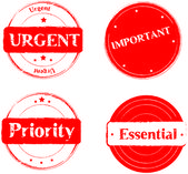 Stamp Urgent — Stock Vector