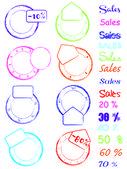 Stamp color — Cтоковый вектор