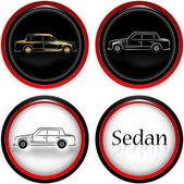 Sedan cars — Stock Vector