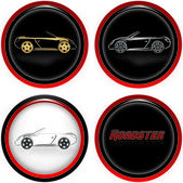 Roadster Cars — Vector de stock