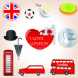 Stock Vector: I love London