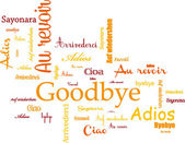 Goodbye — Stock Vector