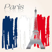 Background Welcome Paris — Stock Vector