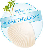 Welcome to St Barthelemy — Stock Vector