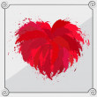 Stock Vector: Heart-shaped red object