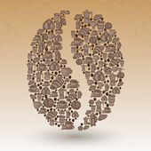 Coffee bean collage — Stock Vector