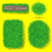 Vector grass objects — Stock Vector