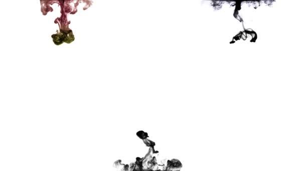 Líquido de tinta — Vídeo de stock