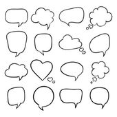 Set of speech bubbles, sketch — Vector de stock