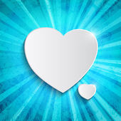 Heart over blue background — Vector de stock