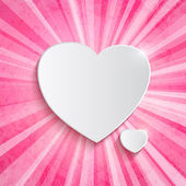 Heart over pink background — ストックベクタ