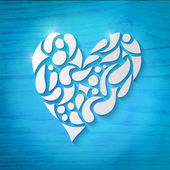 Heart over blue background — Vettoriale Stock